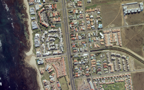 Aerial image of Cape Town in South Africa
