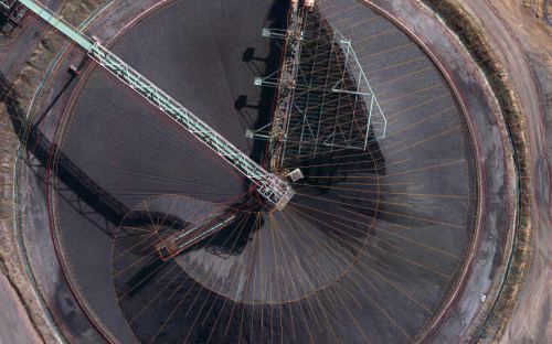 High resolution aerial image of a mine in South Africa captured by Geosense