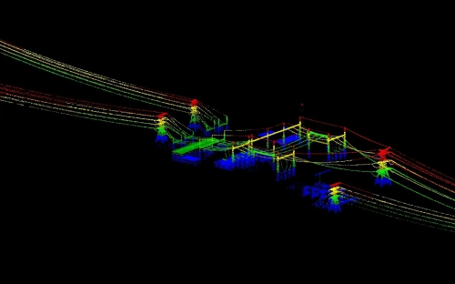 image showing LiDAR data captured from a LiDAR Survey