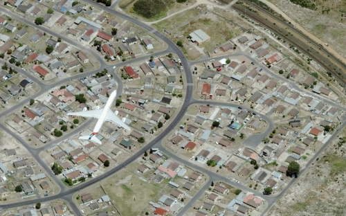 Image captured during an oblique aerial survey in Cape Town South Africa